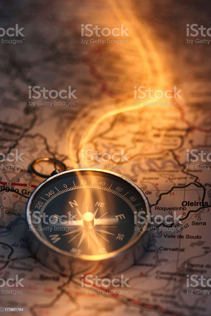 Magical Compass stock photo