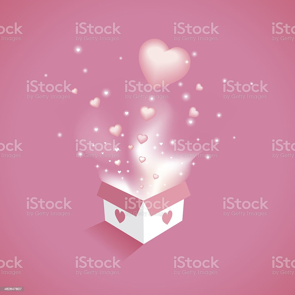 Magical Gift of love royalty-free stock photo