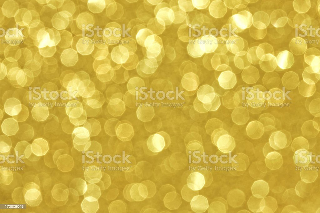 Magical golden Lights royalty-free stock photo