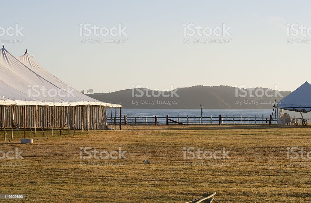 Magical golden morning after the party royalty-free stock photo