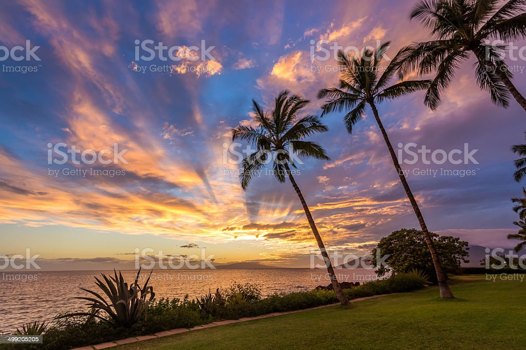 Magical Hawaiian sky stock photo