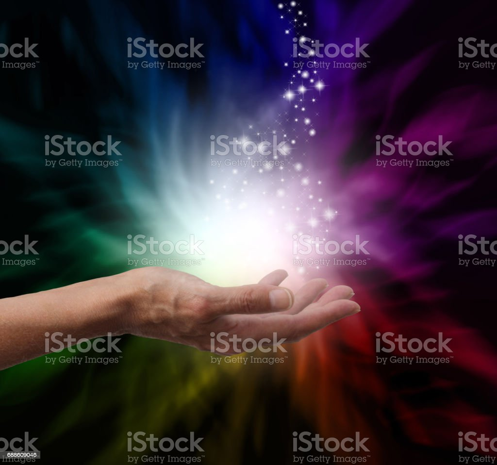Magical Healing Energy stock photo