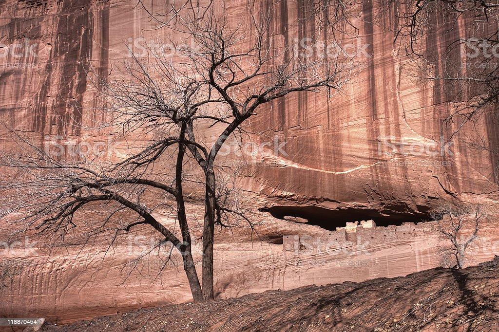 Magical historical canyon in Navajo land stock photo