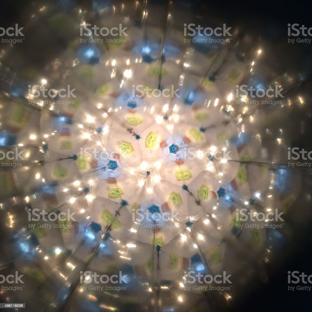 Magical kaleidoscope lights stock photo