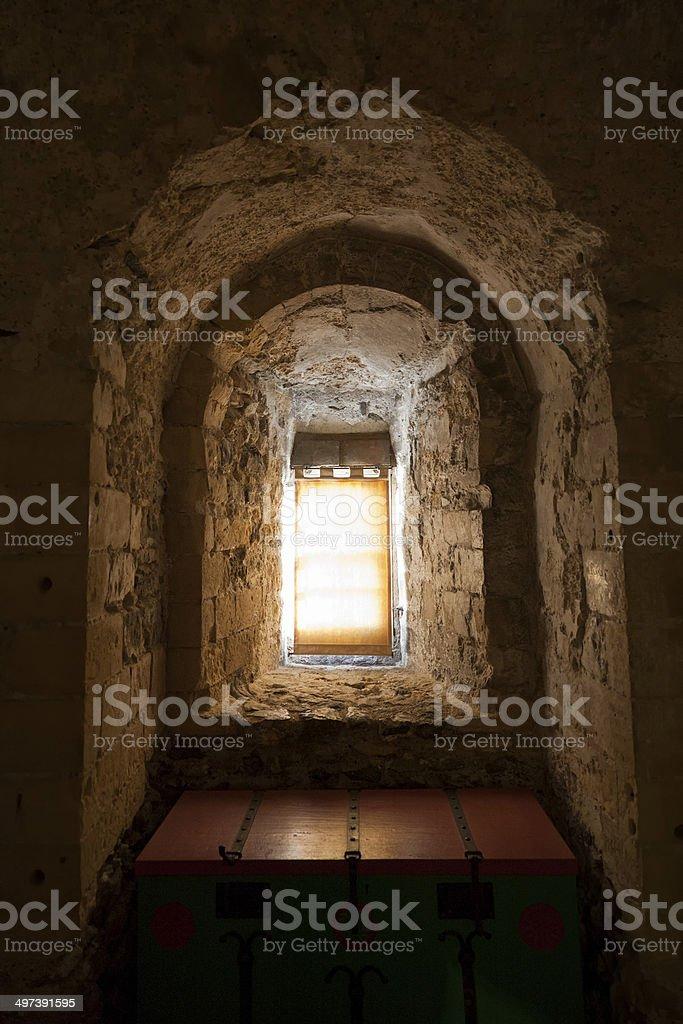 Magical looking window stock photo
