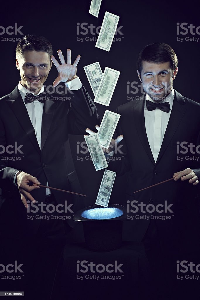 Magical money stock photo