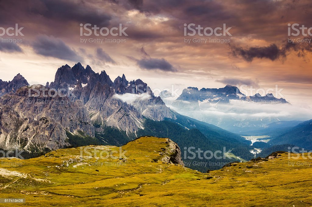 magical mountain landscape stock photo