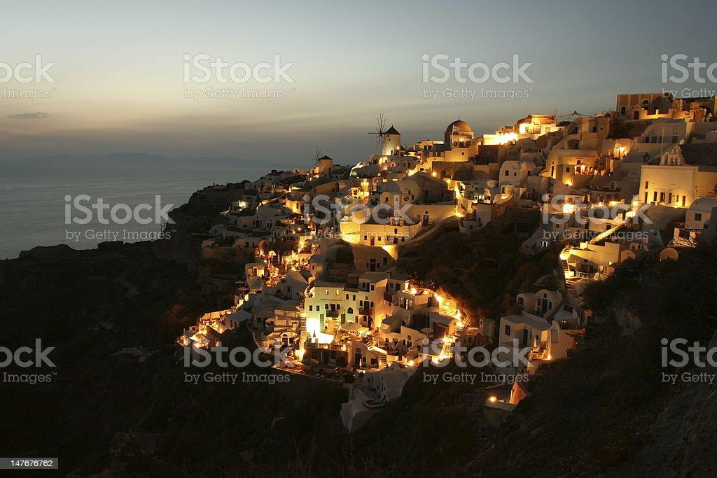 Magical Mountain Top Village royalty-free stock photo