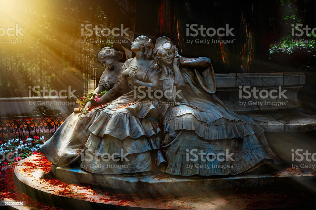 Magical scenery. Monument to Love. stock photo