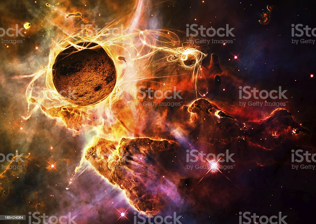 Magical space stock photo