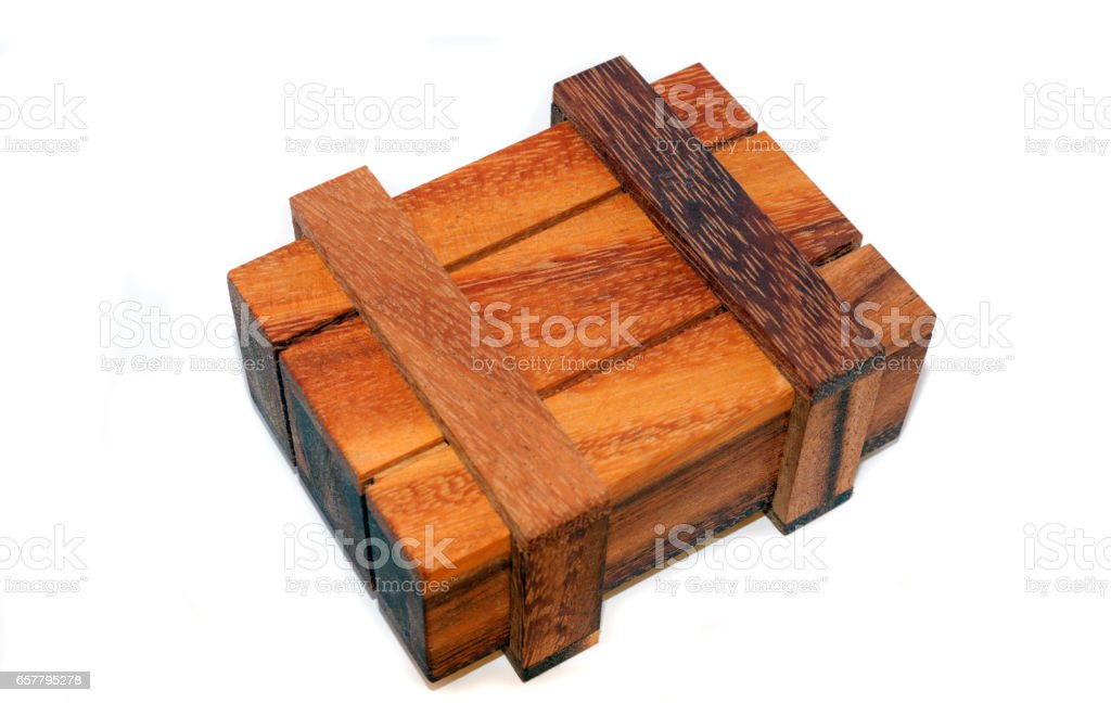 Magical wooden box stock photo
