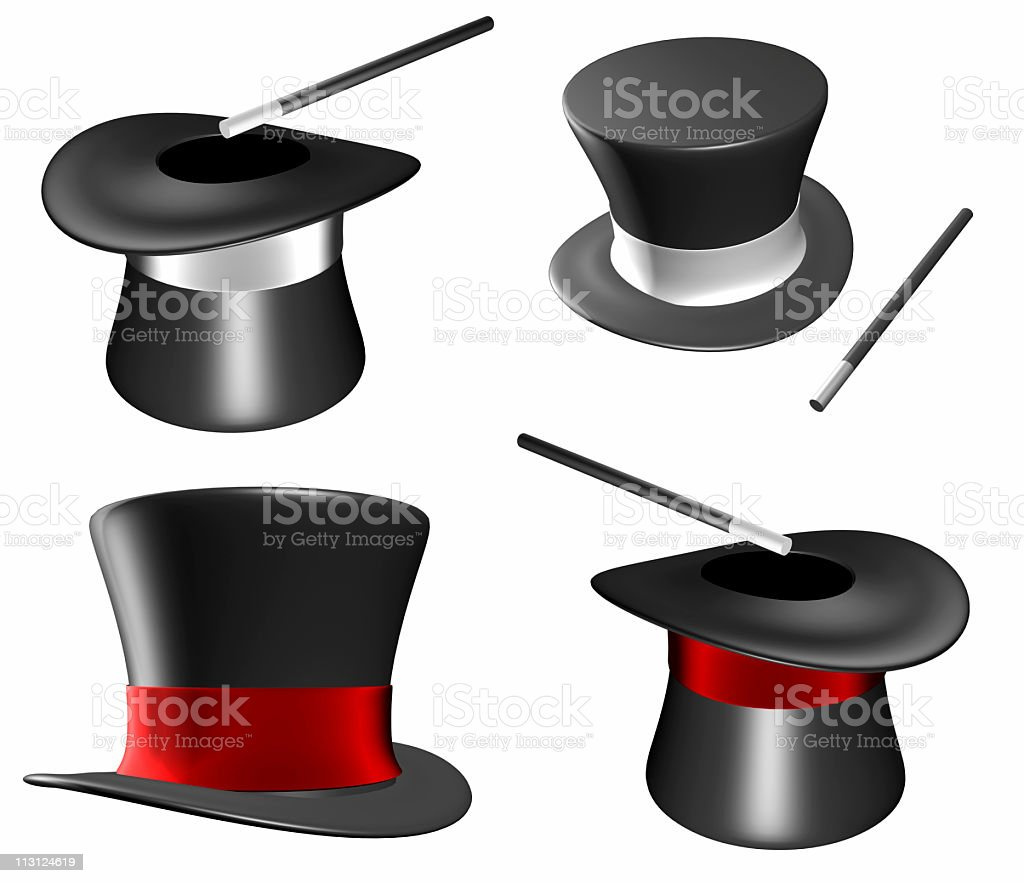 Magician Hats (Isolated) royalty-free stock photo