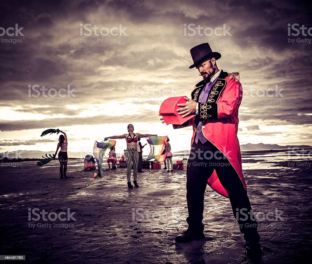 Magician in the Desert stock photo