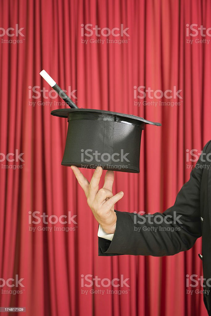 Magician on stage royalty-free stock photo