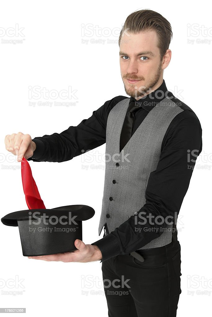 Magician performing royalty-free stock photo