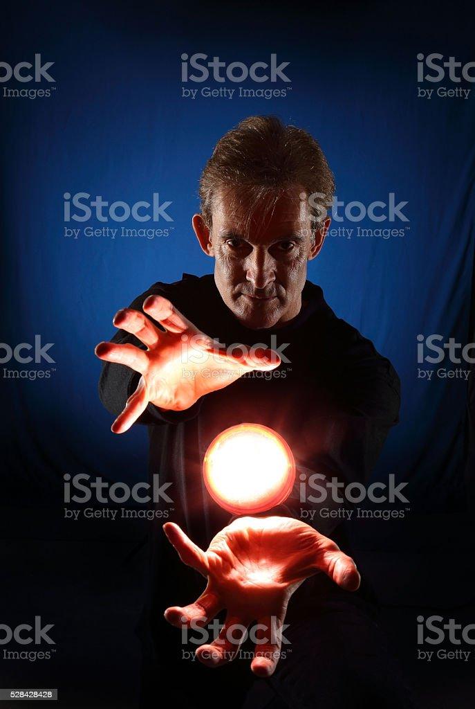 Magician stock photo