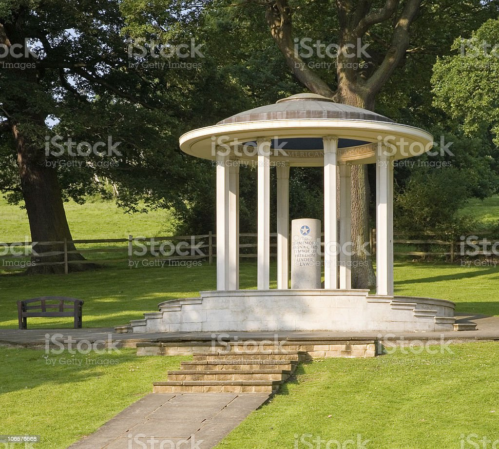 Magna Carta Memorial Runnymede England stock photo