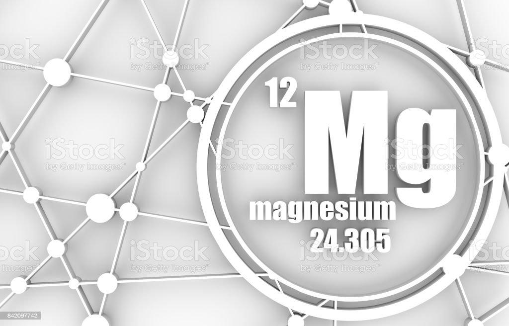 Magnesium chemical element. stock photo