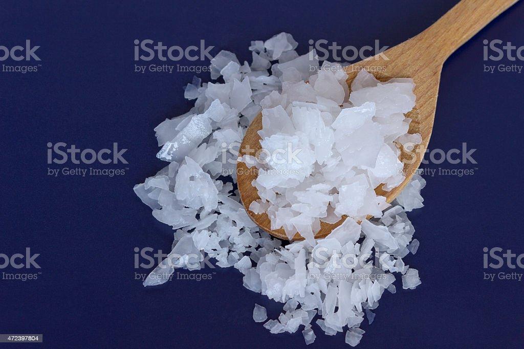 Magnesium chloride-Nigari flakes stock photo