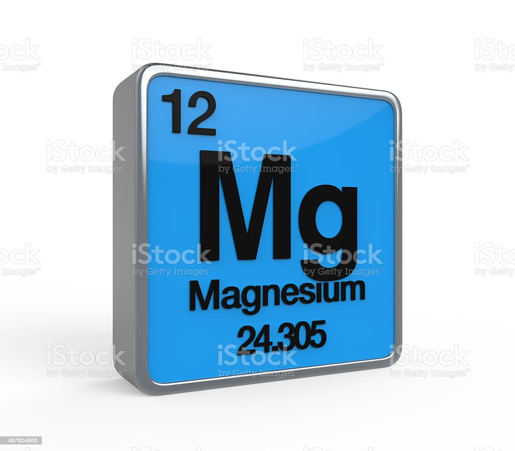 Magnesium Element Periodic Table stock photo