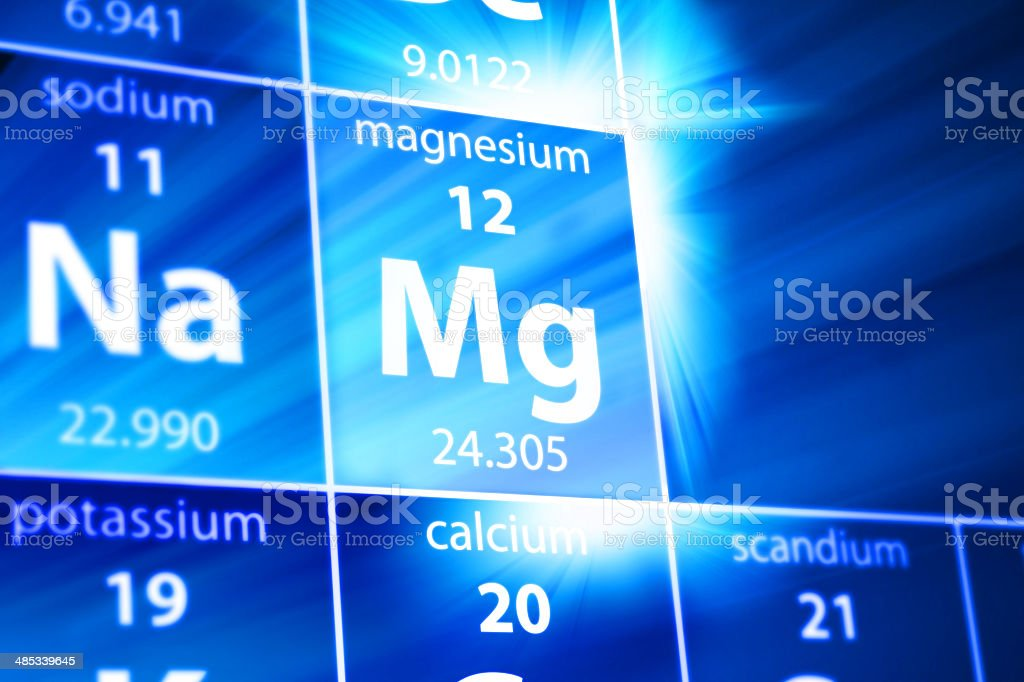 Magnesium Mg Periodic Table stock photo