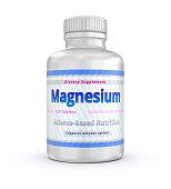 Magnesium vitamins Container. Dietary Supplement. 3D illustration