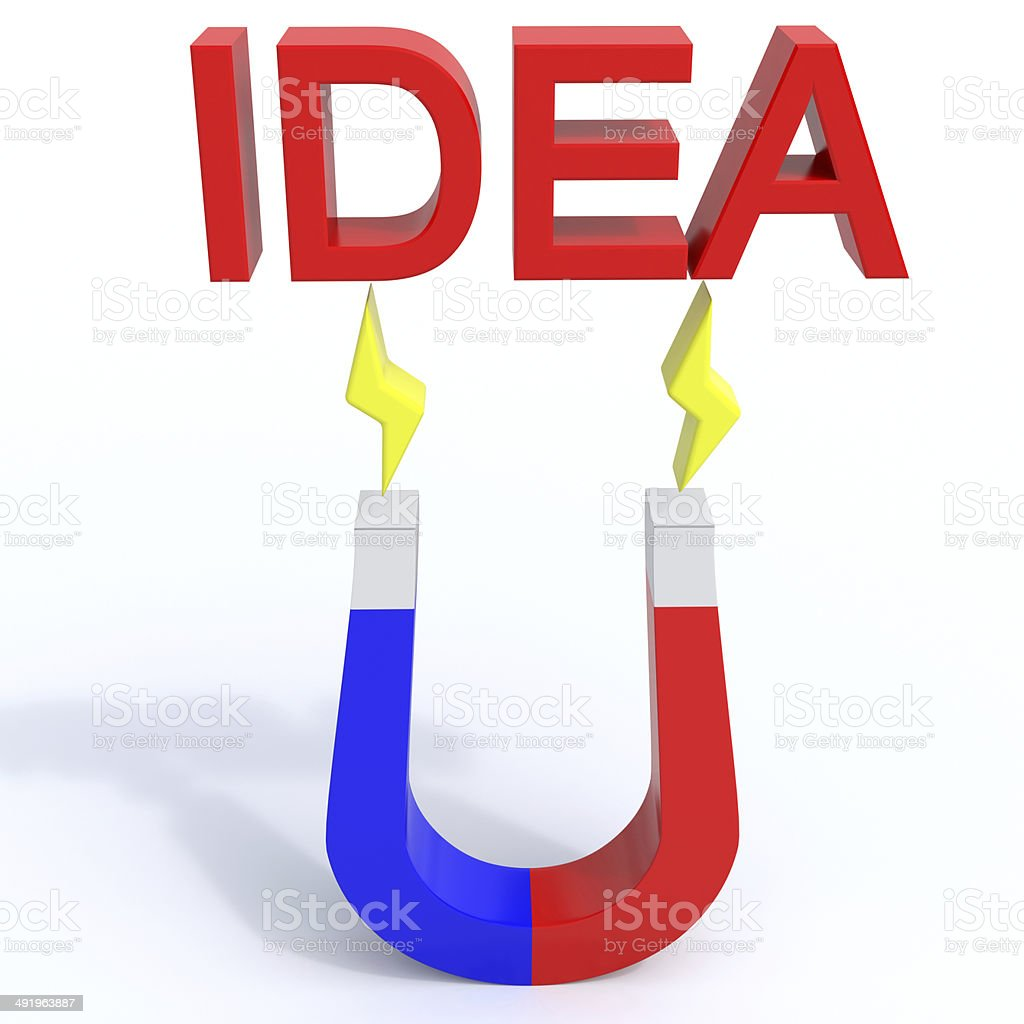 Magnet for idea stock photo
