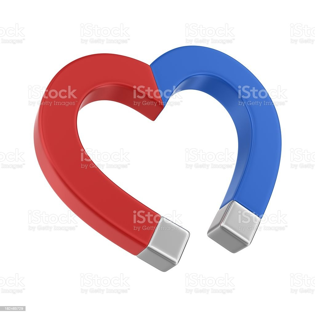 magnet heart royalty-free stock photo