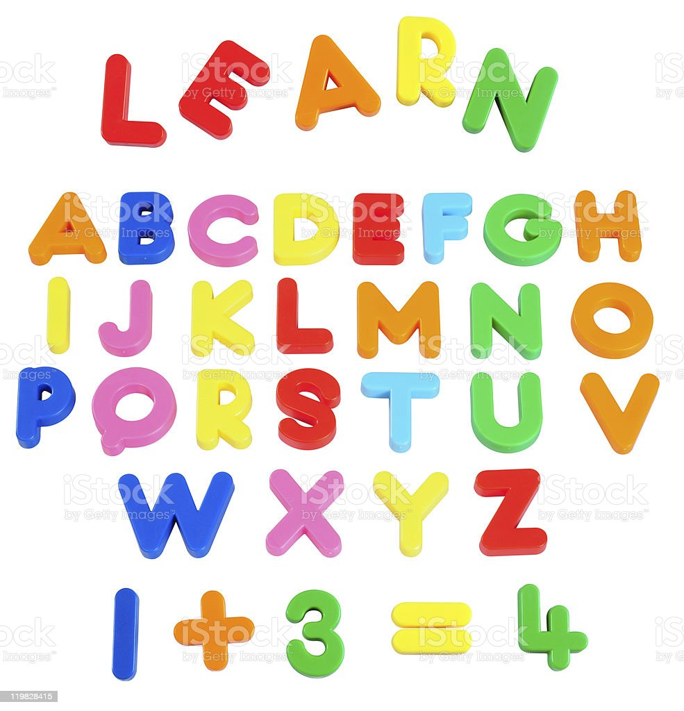 Magnet learning objects. stock photo