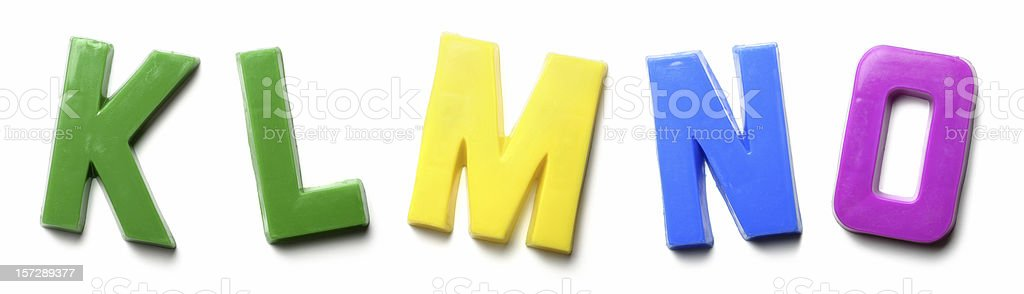 Magnet Letters - K L M N O royalty-free stock photo