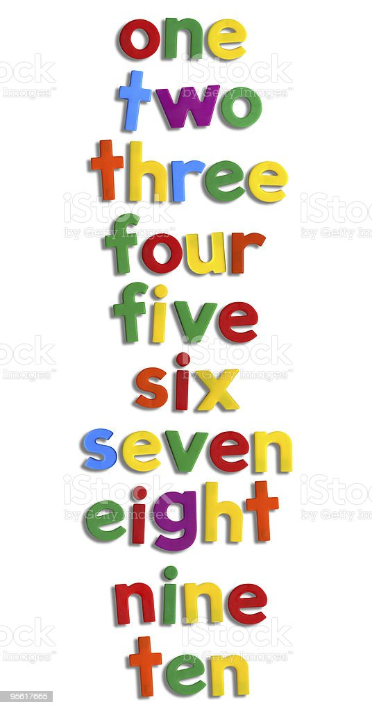 Magnet Numbers w/ Clipping Path stock photo