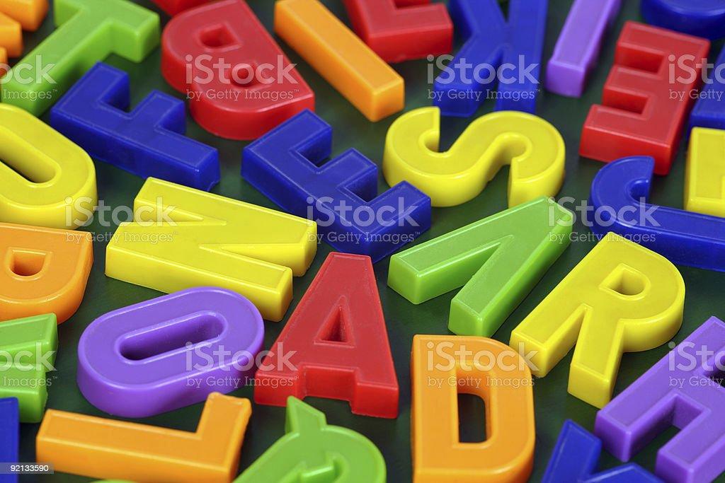 Magnetic alphabet royalty-free stock photo