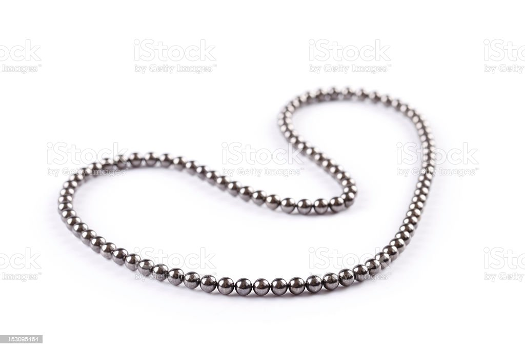magnetic balls - nacklace stock photo