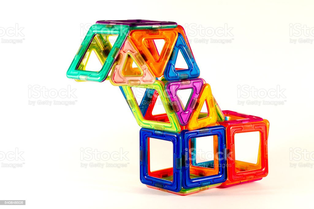 magnetic blocks stock photo