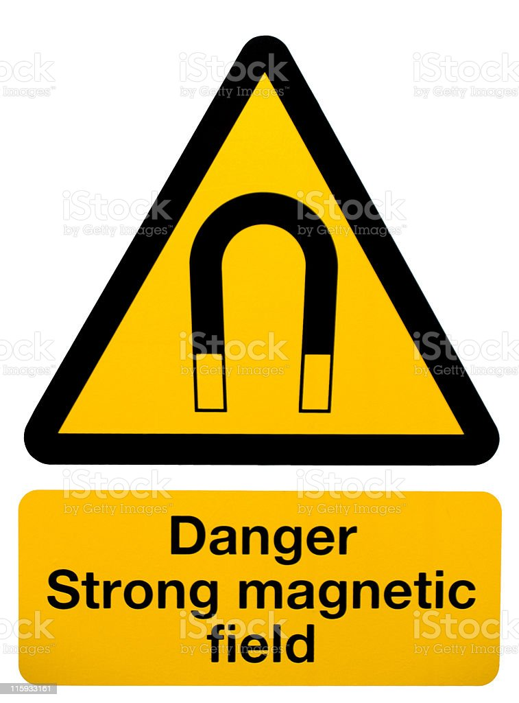 Magnetic Field Warning Sign royalty-free stock photo