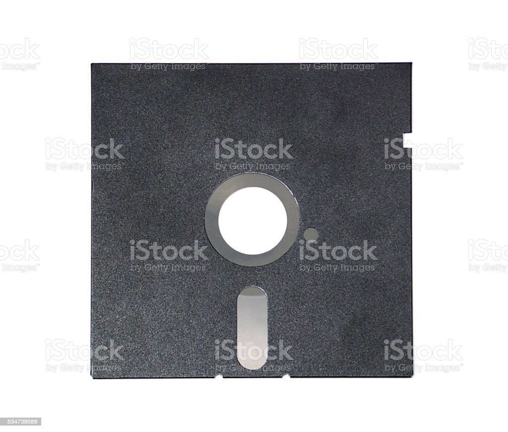 Magnetic floppy disk for computer data storage stock photo