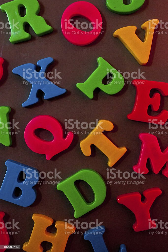 Magnetic Letters royalty-free stock photo