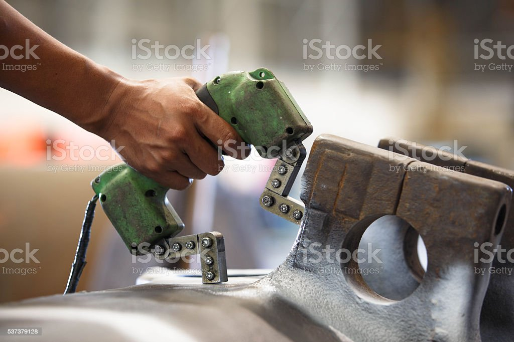 Magnetic particle Inspection stock photo