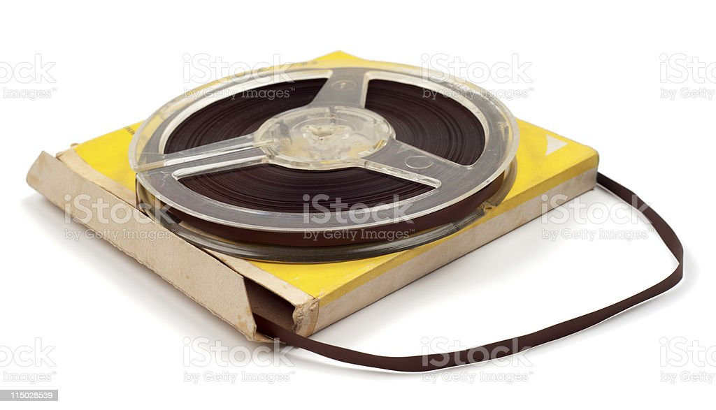 Magnetic tape for audio records stock photo