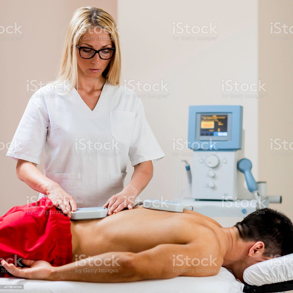 Magnetic therapy stock photo