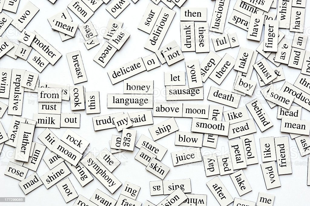 Magnetic Words Collection stock photo