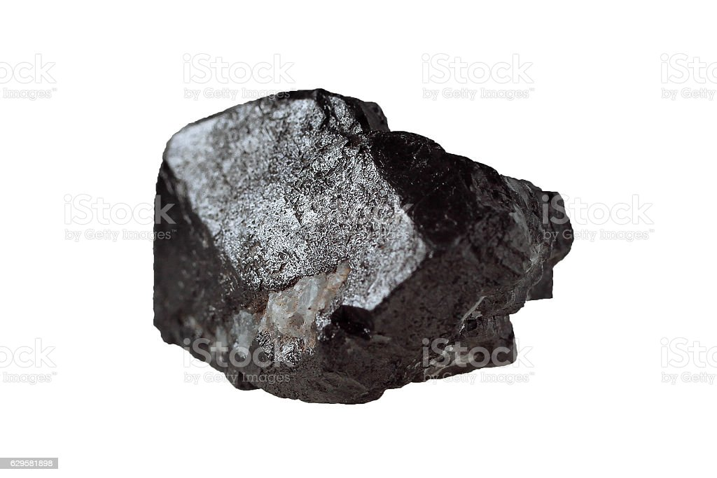 Magnetite mineral isolated stock photo