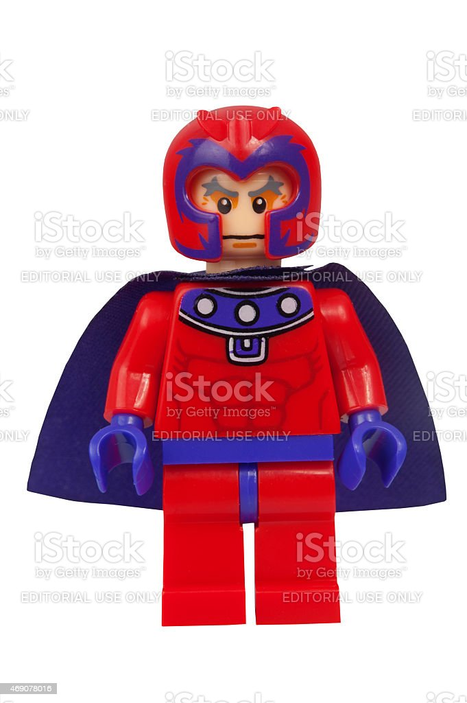 Magneto Custom Lego Minifigure stock photo