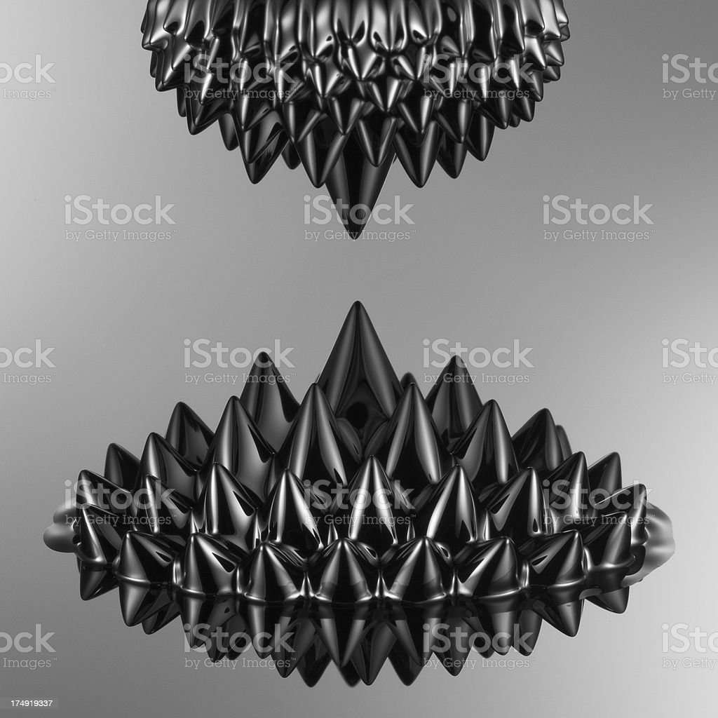 magnetostatic attraction stock photo