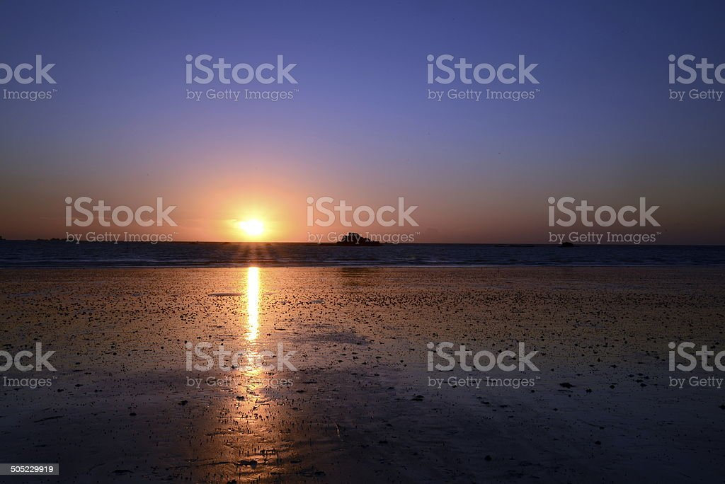 magnficient sunset stock photo