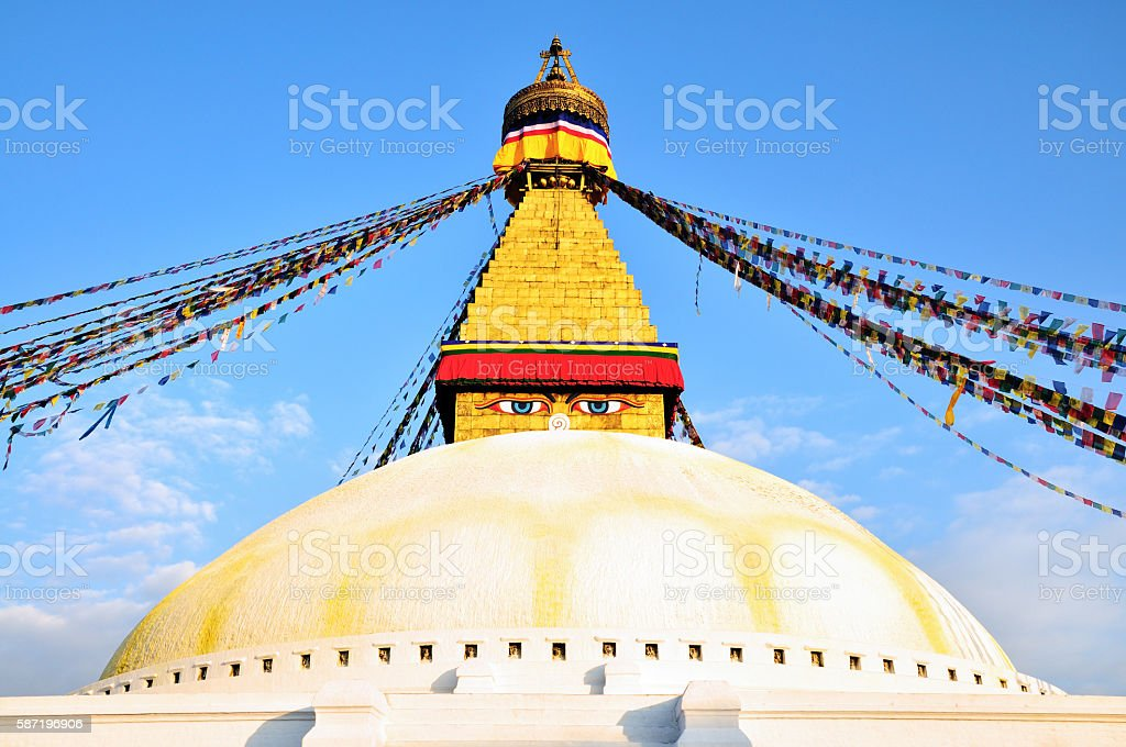 Magnificent Boudhanath Stupa, Kathmandu, Nepal stock photo