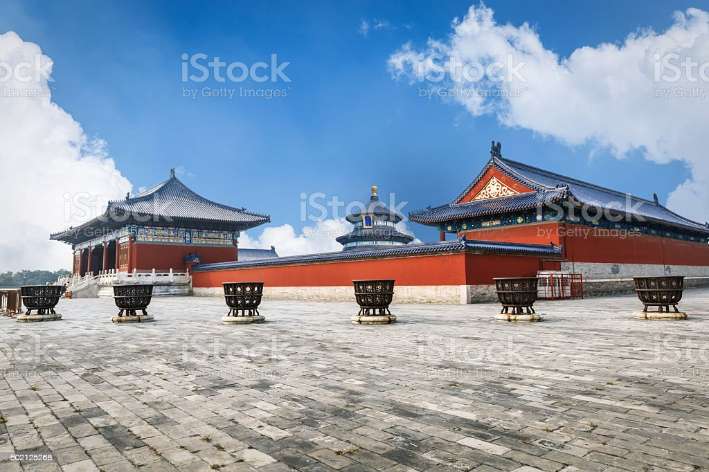 Magnificent Chinese ancient traditional the temple of heaven,in Beijing, China stock photo