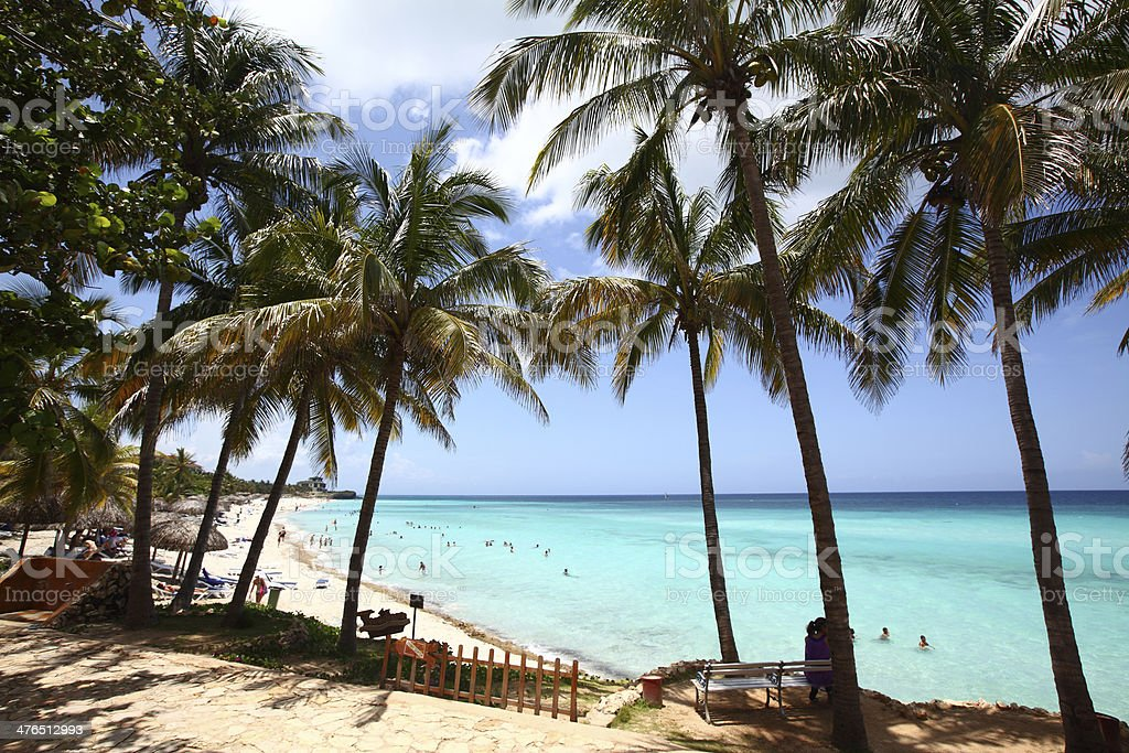 Magnificent Cuban Beach stock photo
