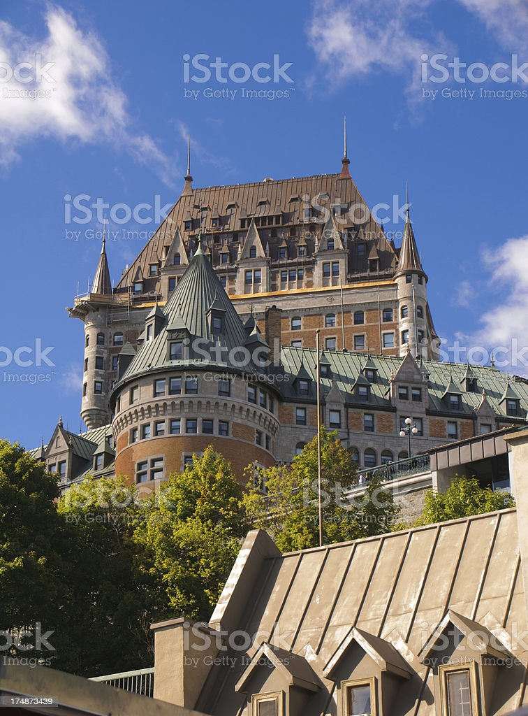 Magnificent Frontenac royalty-free stock photo