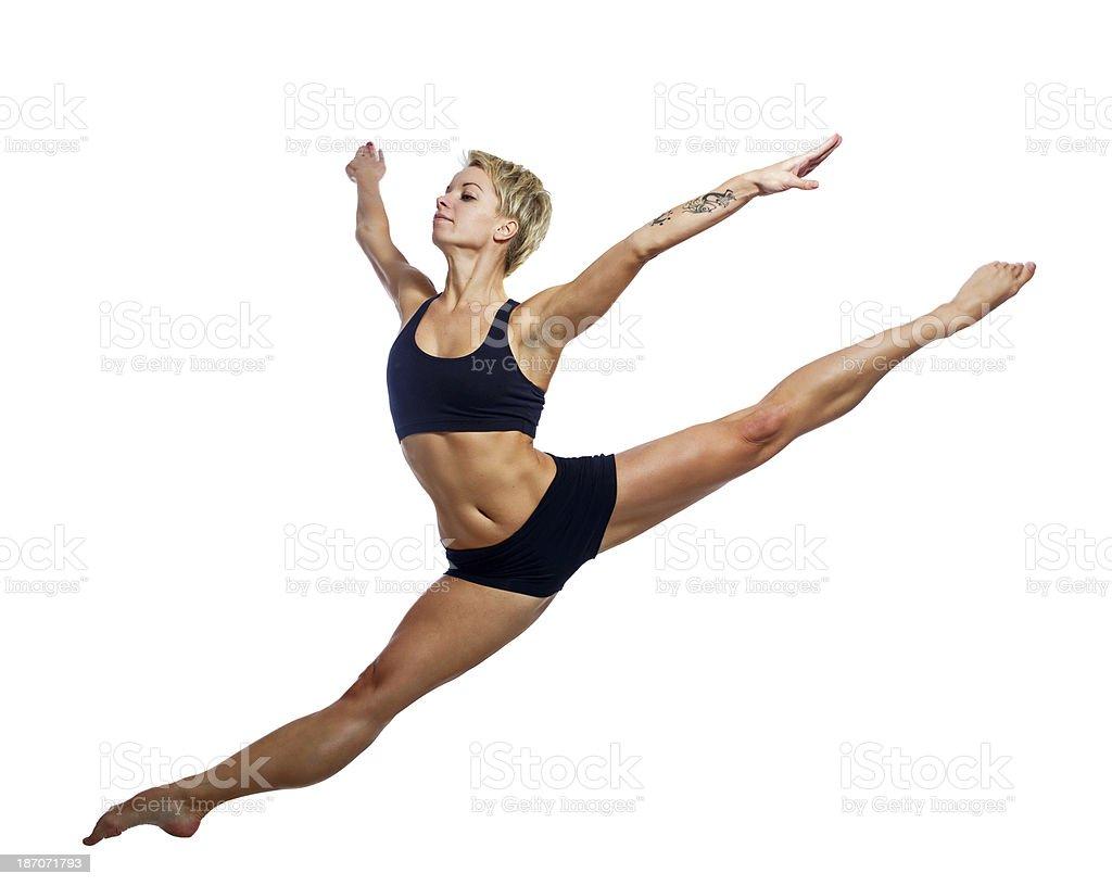 Magnificent leap stock photo